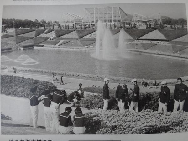 白黒 噴水 中学時代.JPG